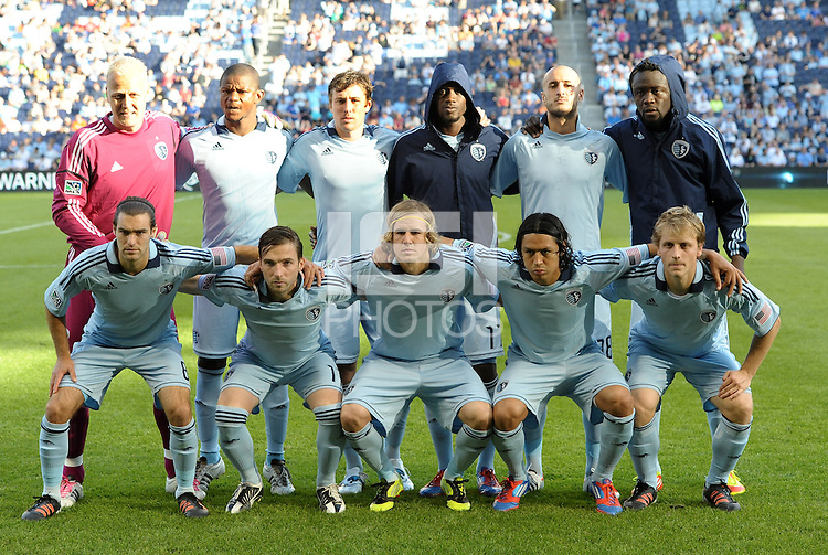 Sporting KC starting XI... Sporting Kansas City defeated FC Dallas 2-1 at LIVESTRONG Sporting Park, Kansas City, Kansas.