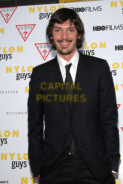 "LUKAS HAAS.The premiere of the new film, ""Last Days"", at The Sunshine Theater in Manhattan, New York, New York..July 19th, 2005.Photo Credit: Patti Ouderkirk/AdMedia.half length goatee mustache facial hair black suit jacket.www.capitalpictures.com.sales@capitalpictures.com.© Capital Pictures."