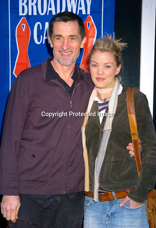 Roger Rees and Bree Williamson ..at the Broadway Cares/ Equity Fights Aids Flea Market and Grand Auction on September 19, 2004 in Shubert Alley...Photo by Robin Platzer, Twin Images