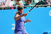 June 17th 2017, Nottingham, England; WTA Aegon Nottingham Open Tennis Tournament day 6;  Donna Vekic of Croatia on her way to winning the first set in her semi final match against Lucie Safarova of Czech Republic