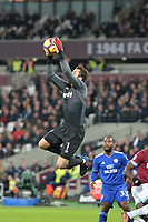 Lukasz Fabianski of West Ham United catches a cross during West Ham United vs Cardiff City, Premier League Football at The London Stadium on 4th December 2018