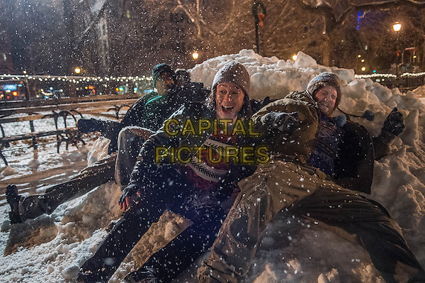 The Night Before (2015) <br /> Anthony Mackie, Joseph Gordon-Levitt and Seth Rogen <br /> *Filmstill - Editorial Use Only*<br /> CAP/FB<br /> Image supplied by Capital Pictures