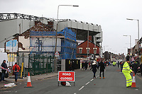 Anfield Road is closed due to public safety ahead of the Barclays Premier League Match between Liverpool and Swansea Cityplayed at Anfield, Liverpool on 29th November 2015