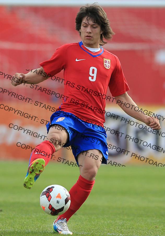 Fudbal UEFA U17 Elite round<br /> Srbija v Nemacka<br /> Luka Jovic<br /> Novi Sad, 03.31.2014.<br /> Foto: Srdjan Stevanovic/Starsportphoto.com&copy;