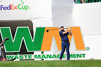 Tyrrell Hatton (ENG) on the 17th tee during the 1st round of the Waste Management Phoenix Open, TPC Scottsdale, Scottsdale, Arisona, USA. 31/01/2019.<br /> Picture Fran Caffrey / Golffile.ie<br /> <br /> All photo usage must carry mandatory copyright credit (© Golffile | Fran Caffrey)