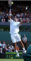 WIMBLEDON CHAMPIONSHIPS 24/06/02 PETE SAMPRAS (USA) IS TOO GOOD FOR MARTIN LEE PHOTO ROGER PARKER FOTOSPORTS INTERNATIONAL