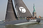 The Tutima DK-46 sailing yacht, based in Germany, sails in front of  the the Statue of Liberty Friday, June 8, 2007 in New York Harbor. The German based 46 foot yacht was visiting New York prior to its 3600 mile race across the atlantic ocean which begins June 16, 2007 in Newport, R.I. (Photo/ Victoria Arocho Rocka*Rho Publishing)