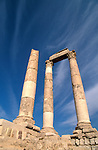 Jordan, Amman. Ruins from the Roman period on Citadel Hill&amp;#xA;<br />
