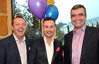 REPRO FREE 14-4-2013: It was business as usual at the Muckross Park Hotel, Killarney at the weekend when comedian Oliver Callan and Mayo TD Darragh Calleary joined local boy Anthony Kelly and his sixty guests for his 30th celebration bash in the plus hotel..Picture by Don MacMonagle