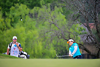 Inbee Park (KOR) chipson to 2 during round 3 of  the Volunteers of America Texas Shootout Presented by JTBC, at the Las Colinas Country Club in Irving, Texas, USA. 4/29/2017.<br /> Picture: Golffile | Ken Murray<br /> <br /> <br /> All photo usage must carry mandatory copyright credit (&copy; Golffile | Ken Murray)