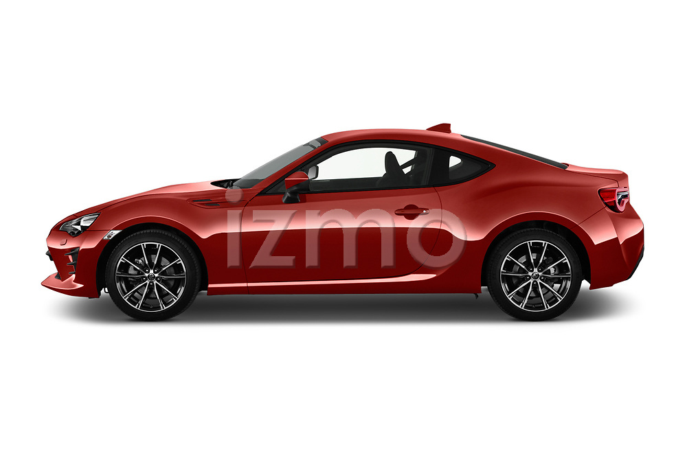Car driver side profile view of a 2017 Toyota GT86 Sport 2 Door Coupe
