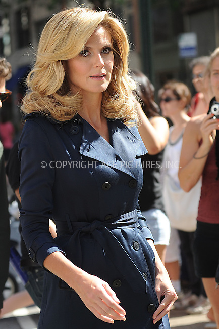 WWW.ACEPIXS.COM . . . . . .June 23, 2012...New York City....Heidi Klum filming a commercial for Belladonna on June 23, 2012 in New York City. ....Please byline: KRISTIN CALLAHAN - WWW.ACEPIXS.COM.. . . . . . ..Ace Pictures, Inc: ..tel: (212) 243 8787 or (646) 769 0430..e-mail: info@acepixs.com..web: http://www.acepixs.com .