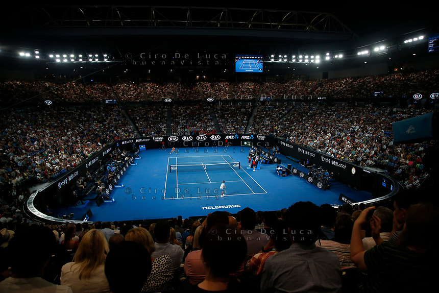 16th January 2019, Melbourne Park, Melbourne, Australia; Australian Open Tennis, day 3; general view of Rod Laver Arena