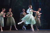 Dress rehearsal of La Sylphide (some parts in partial costume). Australia's Queensland Ballet makes its London Coliseum debut with La Sylphide, the August Bournonville ballet is choreographed by Peter Schaufuss. Performances at the Coliseum from 5 to 8 August 2015. Photo credit: Bettina Strenske