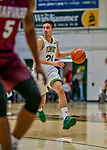 8 December 2018: University of Vermont Guard Everett Duncan, a Redshirt Junior from Evansville, IN, in first half action against the Harvard University Crimson at Patrick Gymnasium in Burlington, Vermont. The America East Catamounts rallied to defeat the Ivy League Crimson 71-65 in NCAA Division I inter-league play. Mandatory Credit: Ed Wolfstein Photo *** RAW (NEF) Image File Available ***