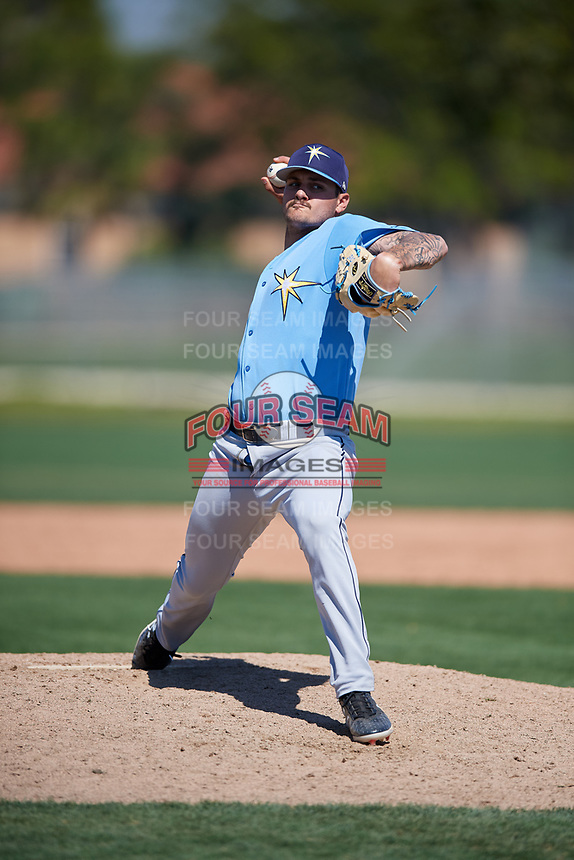 Tampa Bay Rays pitcher Matt Vogel (26) during a Minor League Spring Training game against the Minnesota Twins on March 15, 2018 at CenturyLink Sports Complex in Fort Myers, Florida.  (Mike Janes/Four Seam Images)