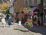 Historic street and buildings in town centre of Corsham, Wiltshire, England, UK