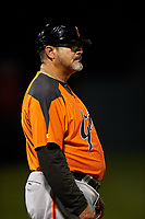 AZL Giants Orange manager Alvaro Espinoza (99) during an Arizona League game against the AZL Cubs 1 on July 10, 2019 at Sloan Park in Mesa, Arizona. The AZL Giants Orange defeated the AZL Cubs 1 13-8. (Zachary Lucy/Four Seam Images)