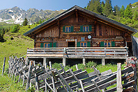 Duerrstein Alm, Stuhlfelden, National Park Hohe Tauern, Salzburgerland, Austria, June 2010. The Durrstein Hochalm is used as a hunters hut.  The Duerrstein Alm is run by Theresia Bacher who grew up in one of the 3 huts on the alpine pasture. Photo by Frits Meyst/Adventure4ever.com