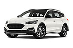 Stock pictures of low aggressive front three quarter view of a 2019 Ford Focus-Clipper Active-Business 5 Door Wagon