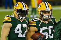 Green Bay Packers linebacker Jake Ryan (47) and linebacker Blake Martinez (50) during a National Football League game against the Minnesota Vikings on December 23rd, 2017 at Lambeau Field in Green Bay, Wisconsin. Minnesota defeated Green Bay 16-0. /GBSports Photography)