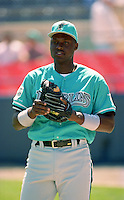 Florida Marlins Charles Johnson during Spring Training 1993 at Joker Marchant Stadium in Lakeland, Florida.  (MJA/Four Seam Images)
