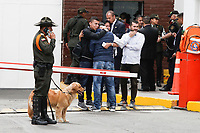 BOGOTA, COLOMBIA - January 17. Relatives of Members of the Colombia Police Department arrive near the scene where a car bomb exploded on January 17, 2019 in Bogota, Colombia. A car bomb exploded in front of the police academy killing at least nine people and wounding 41.  (Photo by Marcelo Villa/VIEWpress/)
