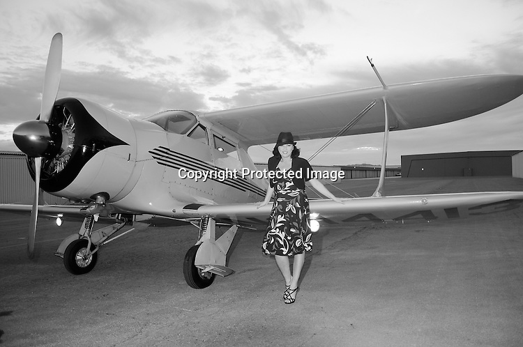 Vintage Aircraft and Woman