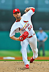 8 March 2012: St. Louis Cardinals' pitcher Jaime Garcia on the mound during a Spring Training game against the Boston Red Sox at Roger Dean Stadium in Jupiter, Florida. The Cardinals defeated the Red Sox 9-3 in Grapefruit League action. Mandatory Credit: Ed Wolfstein Photo