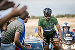 Green Jersey Peter Sagan (SVK) Bora-Hansgrohe part of the breakaway group climbs during Stage 15 of the 2018 Tour de France running 181.5km from Millau to Carcassonne, France. 22nd July 2018. <br /> Picture: ASO/Pauline Ballet | Cyclefile<br /> All photos usage must carry mandatory copyright credit (&copy; Cyclefile | ASO/Pauline Ballet)