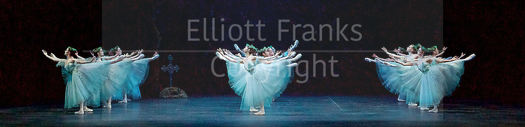Giselle <br /> English National Ballet at The London Coliseum, London, Great Britain <br /> rehearsal <br /> 10th January 2017 <br /> <br /> The Wilis <br /> <br /> Photograph by Elliott Franks <br /> Image licensed to Elliott Franks Photography Services