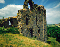 .Clun Castle, Shropshire. One of a chain of medieval fortresses which policed the border between England and Wales...