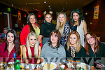 Enjoying a reunion dinner at Ristorante Uno on Saturday night were past pupils of Presentation Secondary School 2012. Front l-r  Claire Ward, Sarah Lynch, Aisling Cronin, Binah Linnane, Aisling Quirke, Sadhbh Lawlor, Jade Moynihan, Elisha Jay and Elaine Lawlor