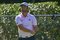 Jon Rahm (ESP) watches his tee shot on 2 during round 3 of the Fort Worth Invitational, The Colonial, at Fort Worth, Texas, USA. 5/26/2018.<br /> Picture: Golffile | Ken Murray<br /> <br /> All photo usage must carry mandatory copyright credit (&copy; Golffile | Ken Murray)