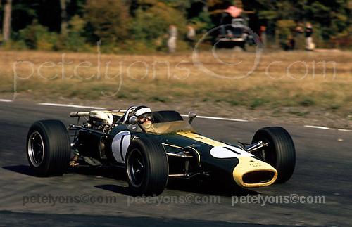 Jim Clark in winning Lotus with H16 BRM engine, US Grand Prix at Watkins Glen 1966