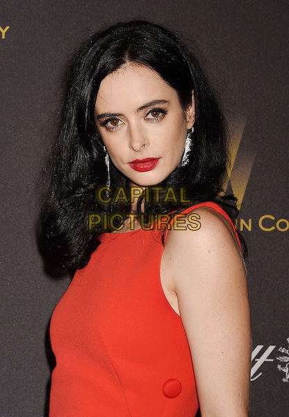 BEVERLY HILLS, CA - JANUARY 10: Actress Krysten Ritter attends The Weinstein Company and Netflix Golden Globe Party, presented with DeLeon Tequila, Laura Mercier, Lindt Chocolate, Marie Claire and Hearts On Fire at The Beverly Hilton Hotel on January 10, 2016 in Beverly Hills, California.<br /> CAP/ROT/TM<br /> &copy;TM/ROT/Capital Pictures