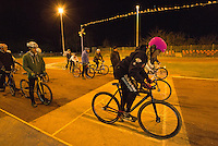 31 MAR 2015 - IPSWICH, GBR - Charlie-Jane Herbert starts her next drill during an Ipswich Cycle Speedway Club training session at Whitton Sports and Community Centre in Ipswich, Great Britain (PHOTO COPYRIGHT © 2015 NIGEL FARROW, ALL RIGHTS RESERVED)