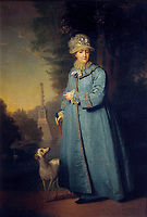-Catherine in an advanced age, with the Chesme Column in the background, by Vladimir Borovikovsky-- - Catherine The Great-