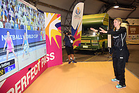 06.08.2015 Silver Ferns Casey Kopua visit the Fan Fest ahead of the 2015 Netball World Champs at All Phones Arena in Sydney, Australia. Mandatory Photo Credit ©Michael Bradley.