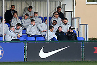 England Assistant Manager, Steve Holland, chats to some of the Chelsea staff ahead of kick-off during Chelsea Under-19 vs AS Monaco Under-19, UEFA Youth League Football at the Cobham Training Ground on 19th February 2019