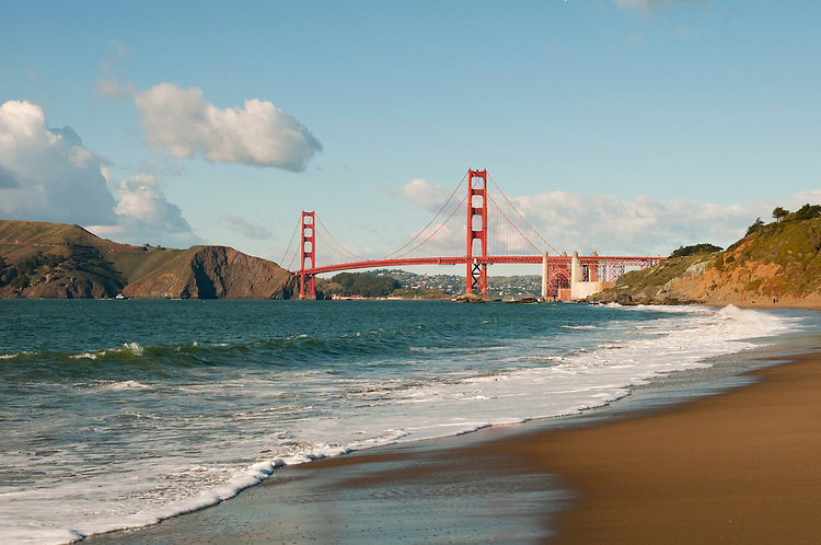 Baker Beach, Golden Gate Bridge, San Francisco, California, USA.  Photo copyright Lee Foster.  Photo # california108824