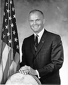 John Herschel Glenn, Jr., Project Mercury Astronaut, undated portrait..Credit: NASA via CNP