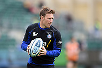 Will Chudley of Bath Rugby in action during the pre-match warm-up. Gallagher Premiership match, between Bath Rugby and Wasps on May 5, 2019 at the Recreation Ground in Bath, England. Photo by: Patrick Khachfe / Onside Images