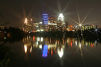 Star reflection on the Austin Skyline