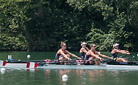 """Lucerne, SWITZERLAND, 14th July 2018, Saturday,   Semi Final A/B1, NZL W2X, Bow, """"Brooke DONOGHUE"""" and """"Olivia LOE"""", battle with """"CAN W2X"""", Bow, """"Gabrielle SMITH""""  and """"Andre PROSKE"""",  FISA World Cup III Lake Rotsee, © Peter SPURRIER,"""