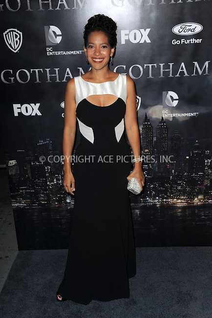 WWW.ACEPIXS.COM<br /> September 15, 2014 New York City<br /> <br /> Zabryna Guevara attends the 'Gotham' Series Premiere at The New York Public Library onSeptember 15, 2014 in New York City.<br /> <br /> Please byline: Kristin Callahan/AcePictures<br /> <br /> ACEPIXS.COM<br /> <br /> Tel: (212) 243 8787 or (646) 769 0430<br /> e-mail: info@acepixs.com<br /> web: http://www.acepixs.com