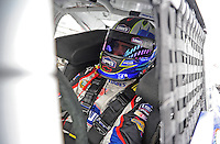 Oct. 30, 2009; Talladega, AL, USA; NASCAR Sprint Cup Series driver Jimmie Johnson during practice for the Amp Energy 500 at the Talladega Superspeedway. Mandatory Credit: Mark J. Rebilas-
