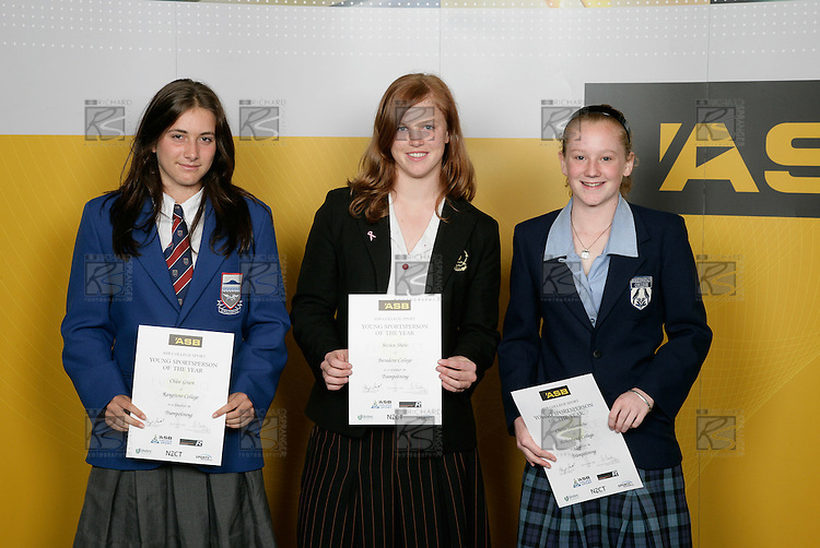 Trampolining Girls Finalists. ASB College Sport Young Sportsperson of the Year Awards 2006, held at Eden Park on Thursday 16th of November 2006.<br />