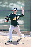 Anthony Huttenlocker, Oakland Athletics 2010 minor league spring training..Photo by:  Bill Mitchell/Four Seam Images.