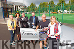 Tralee Tennis Club Launch the BMW Club Championship from the 21st-25th September 2015.Pictured L-r Roberta Kneeshaw, Chairperson, Rosemary Broderick, Treasurer, George Phillips, Mens Captain, Gordon Lunn, Aherns BMW, Paudie Moriarty, Team Player and Nuala Finnegan, Ladies Captain